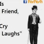 المرآة أفضل صديق لأني عندما أبكي ، لا...