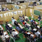 اليابان حولت ملعب كرة سلة إلى مدرسة أثناء كارثة تسونامي اليابان  لأن العلم يأتي قبل كل شيء حتى قبل الراحة والرفاهية