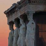 الغروب فى أثينا - اليونان
