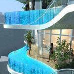 Zwembalkons في مومباي، وتحتوي كل غرفة بركة السباحة الخاصة به