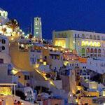 صورة مدهشة من جزيرة ثيرا في بحر إيجه جنوب شرق اليونان