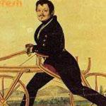 أول دراجه صنعت في العالم كانت بلا دواسات