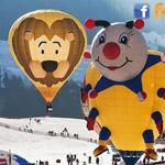 المهرجان الدولي للمناطيد في قرية جبال الألب بسويسرا