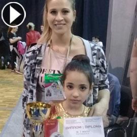 بالفيديو والصور.. نجمة جمباز أردنية تحصد المركز الأول في اولمبياد  ..