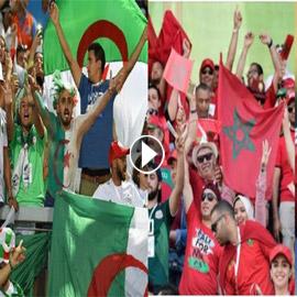 فيديو وصور: كيف احتفل الجمهور المغربي والجزائري بالفوز في  ..