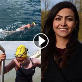 زينة الشركس: أول سورية تسبح من بريطانيا إلى فرنسا بمفردها! فيديو