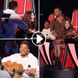ذا فويس كيدز: نانسي تلعب مصارعة مع هشام اليمني وحماقي يعزف الجيتار