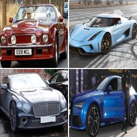 صور سيارات أشهر لاعبي الكرة منهم رونالدو، ميسي، بنزيما ومحمد صلاح