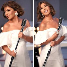 بإطلالة أنيقة بالأبيض: سميرة سعيد تشوق جمهورها لبرنامج ذا فويس سينيور