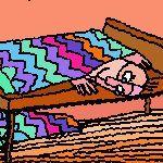 النوم على السرير الفوقاني